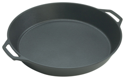 Lodge Round Family Skillet With Twin Handle