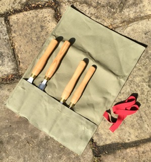 Canvas Tool Roll - for Pole Lathe Chisels