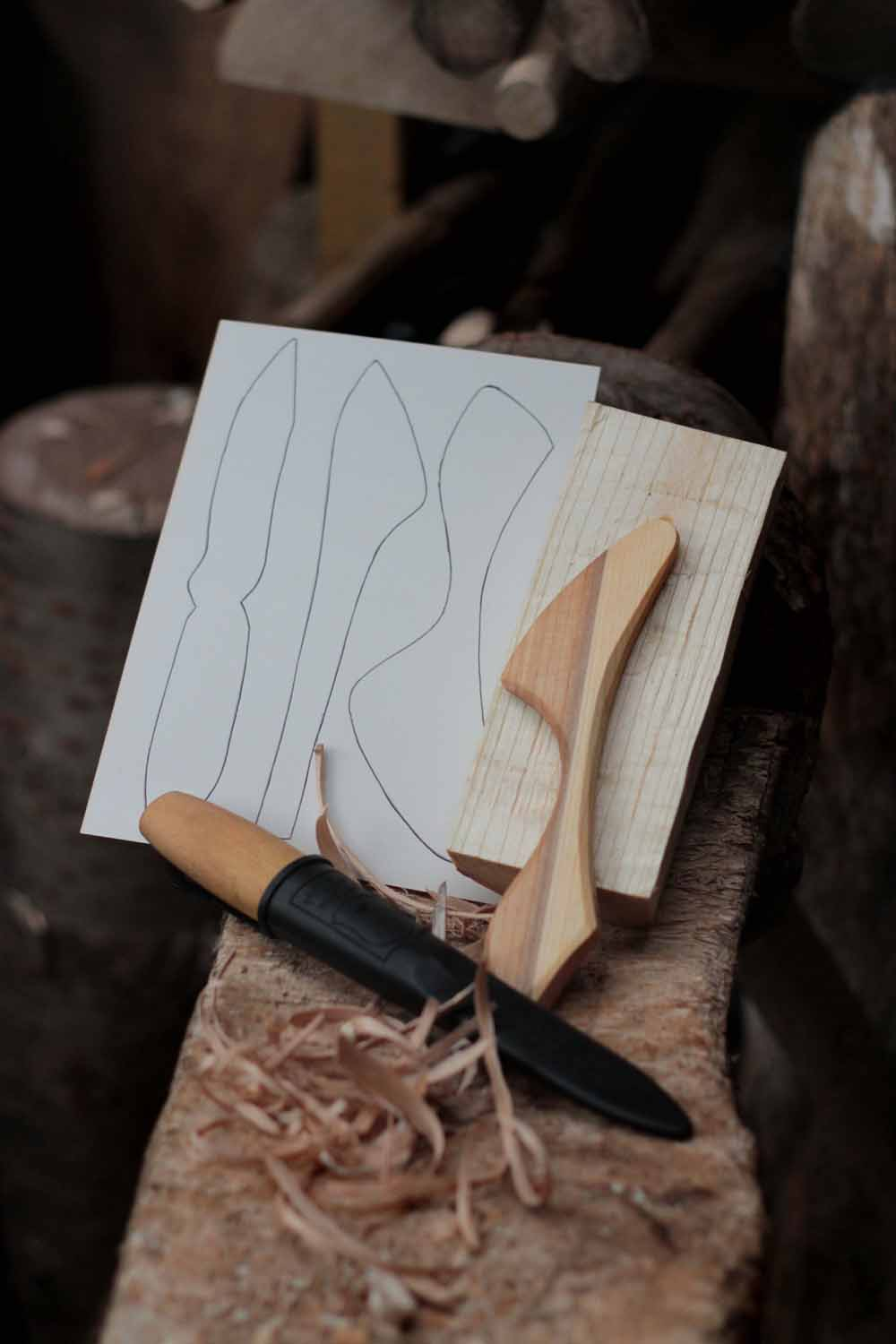Whittling Kit with Craft Wood Billet