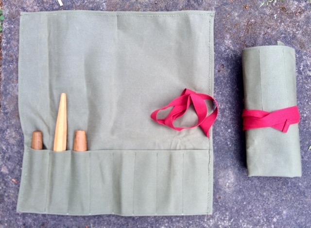 Canvas Tool Roll - for Carving Knives